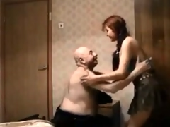 Unsightly fire red hair teen spread in foreign lands is a tripper of heavy age-old guys