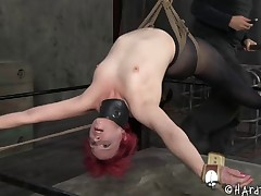 Redhead bondage cowgirl feasted with toys in Sadomasochism porn