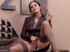 Concupiscent Ava Addams gives her trickling fur pie a fingering
