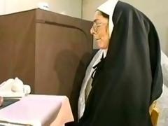 Naugthy nun gets her holes jam-packed hardcore