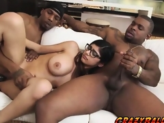 Lascivious hottie chick Mia Khalifa strokes her large cock