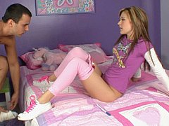 Cute legal age teenager gets hardcored in her all pink room