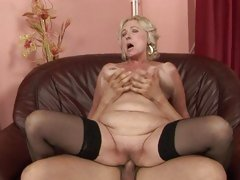 Rampant granny receives her soggy cookie pulverized