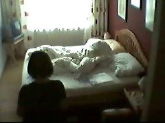 My mum in her bedroom masturbating. Hidden webcam