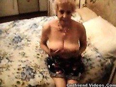 Busty Granny Baring