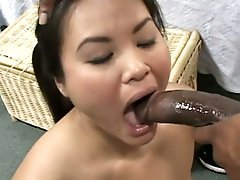 Asian innocent babe getting face fucked by a BBC !