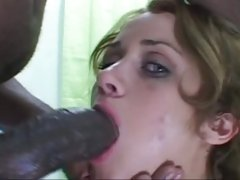 Sexual dark-haired takes a biggest prick down her throat