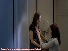 Various clips of celeb Helene Zimmer naked, masturbating and sucking shlong from the movie Q