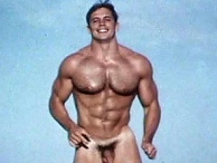 Very hawt & pumped up homosexual model positions for the camera naked...