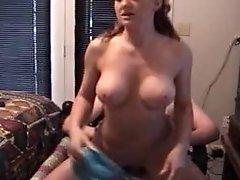 Mamma fucks young cum inside