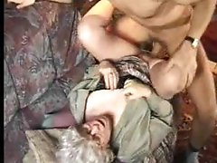 Excited granny in hose wants sex