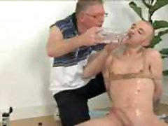 Kinky classics guy and fastened bald twink