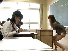 Kinky Asian Teacher Masturbating In Class