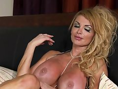 Busty Blonde British MILF Taking On a Big cock In The Morning