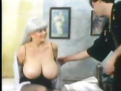 Retro foreplay porn with massive boobs babe
