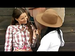 Lesbo Cowgirls Claudia Rossi and Simonne Style Fuck In Threesome