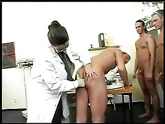 Big Titty Doctor Has Gang-bang With Soldiers