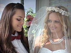 Beautiful lesbo brides