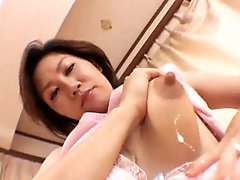 Japanese tits lactate on the camera