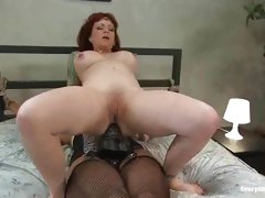 Delightful bitch that can't live without anal sex fuck herself with a large darksome strap-on