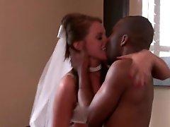 Slutty Bride Has Hardcore Sex With A Massive Dark dick