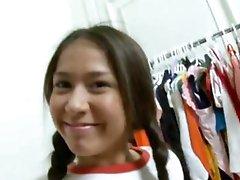 nice-looking schoolgirl and wet crack torment