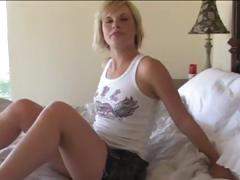 Juvenile blonde chick gets her pussy precious and juicy for step daddy's rod