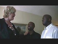 mature blond & 2 dark guys 1