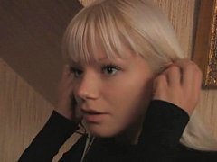 Shy blonde Swedish teen and her guy