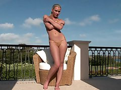 Sweet Blonde MILF Masturbating Her Pink Pussy Outdoors