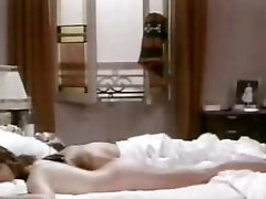 Hot Classics Celeb Claudine Auger Laying Stripped on a Bed