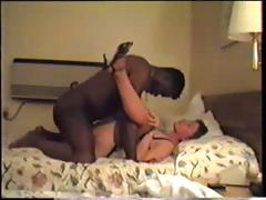 Excited brunette MILF receives her pussy pounded by a big darksome dick