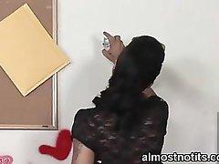 Schoolgirl up the skirt girl
