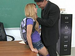 Fat teacher's cock into tight schoolgirl