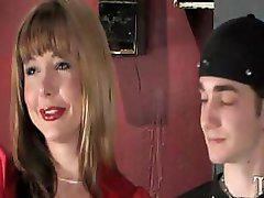Transsexual Totally Owns Slim White Dude In Restrooms