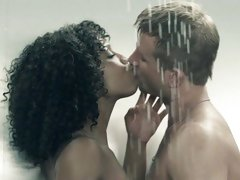 Naughty Misty Stone has a raunchy shower with this dude