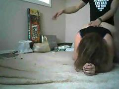 Bulky brunette blows and receives drilled doggystyle in German non-professional