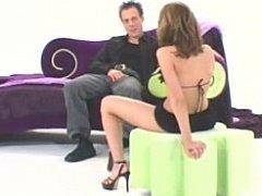 Beautiful honey in lingerie masturbating & arse fucking