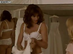 Gorgeous Bridget Moynahan In Sexy Lingerie Trying Her Wedding Dress