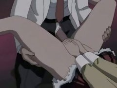 Hentai wench getting a giant dong rammed up her tiny soaked aperture