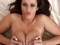 Glamorous brinete does awesome tittyfuck with her giant boobs