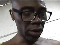 Cheating wife golden-haired in sexy lingerie sucks big fat ebony dick