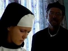 Big boob nun