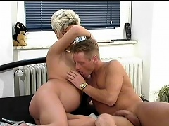 This pregnant wife seduces her husband while in bed she take-off her...