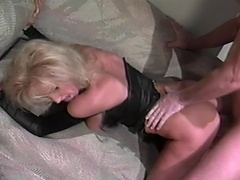 Sensuous blonde whore gets to do some nasty enjoyment with this hunky guy...