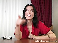 Sexy Milf Boss Makes U Stroke Your Cock as That babe Watches