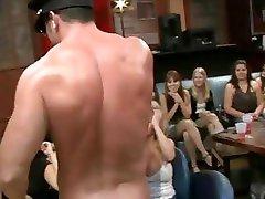 Strumpets engulfing in strip club
