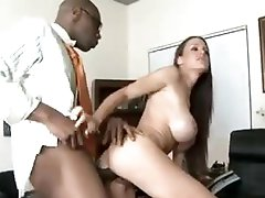 She takes massive black ramrod in front of hubby