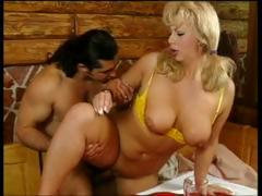 Sexy, breasty MILF, Christine, sucks and fucks dick for her porn audition.