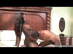 Gorgeous darksome milf laid by a thick cock